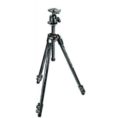 Manfrotto tripod: 290 XTRA CARBON Kit, CF 3 sec. tripod with ball head - Zwart