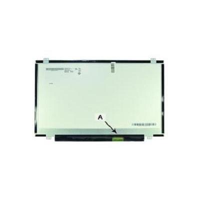 "2-power notebook reserve-onderdeel: 35.56 cm (14.0 "") HD+ 1600x900 LED Glossy - Zwart"