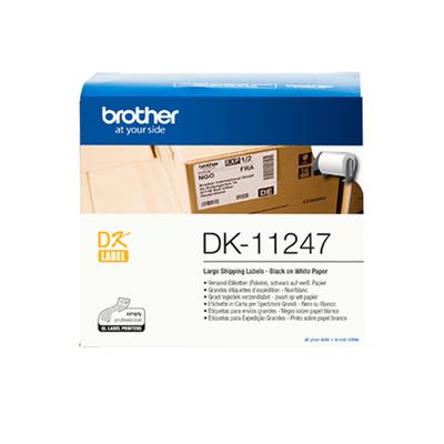 Brother Originele DK-11247 grote verzendlabels Labelprinter tape - Zwart, Wit