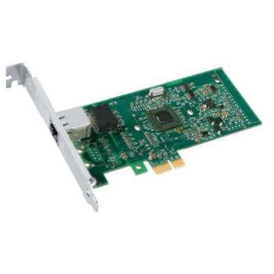 Dell netwerkkaart: Intel PRO 1000PT GbE Single Port Server Adapter Cu PCIe x1 - Kit - Groen