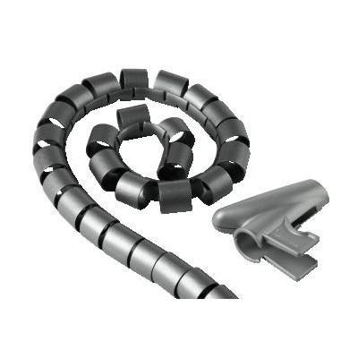 "Hama kabel beschermer: Cable Bundle Tube ""Easy Cover"" 25mm, 2m, Silver - Zilver"