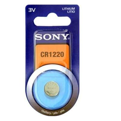 Sony batterij: Sony-lithiumcelbatterij - type CR1220 - blisterverpakking met 1 cel. Deze batterijen worden in een groot .....
