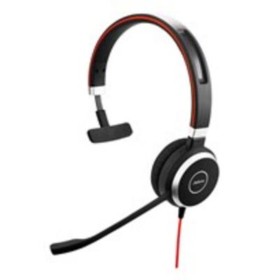 Jabra Evolve 40 Headset - Zwart, Zilver
