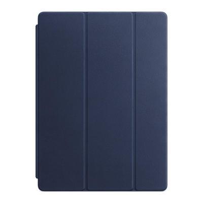 Apple tablet case: Leren Smart Cover voor 12.9'' iPad Pro - Midnight Blue - Blauw