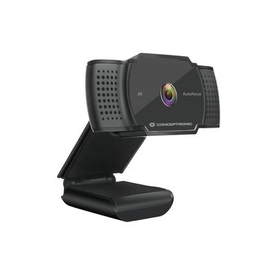 "Conceptronic 5 MP, 1/4"" CMOS, f= 2.7mm, 72°, MJPEG/YUY2, USB-A, DC 5V, 1.5 m, Black Webcam - Zwart"