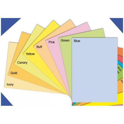Staples papier: Papier SPLS A4 120g kanariegeel/pak 250v