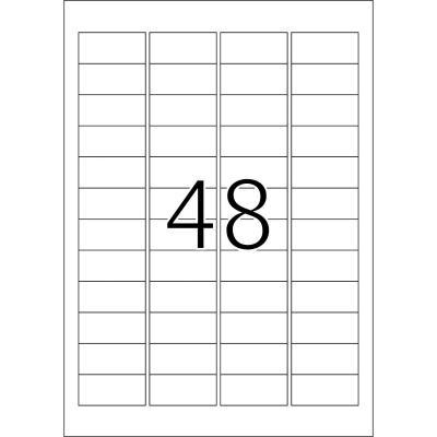 Herma etiket: Etiketten wit 48.3x16.9 Premium A4 12800 st.