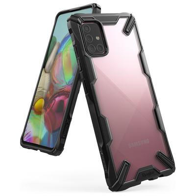 Ringke Fusion X Backcover Samsung Galaxy A71 - Zwart - Zwart / Black Mobile phone case