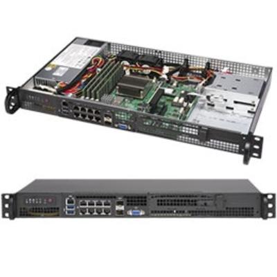 Supermicro SuperServer 5019A-FTN10P Server barebone - Zwart