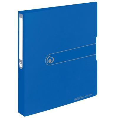Herlitz 2-ring binder, PP, A4, 25 mm, opaque blue Ringband - Blauw