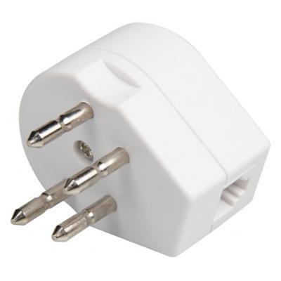 Valueline stekker-adapter: RJ11 telecom adapter telephone connector male + female - RJ11 female white - Wit