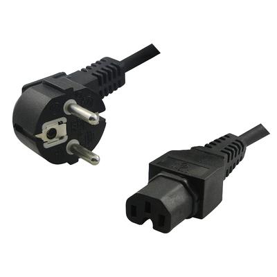 LogiLink C13/C15, 2 m, Black Electriciteitssnoer - Zwart