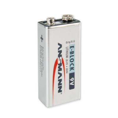 Ansmann batterij: 9V E-Block - Zilver