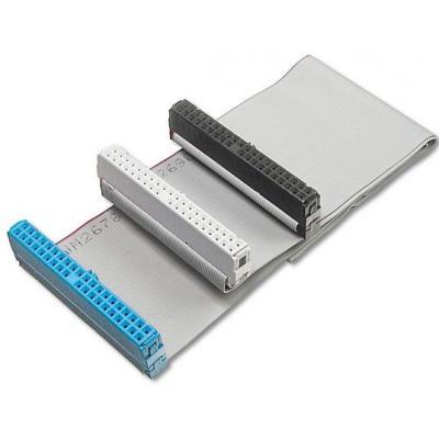 Digitus PATA-kabel: Ultra ATA hard drive cable, 100Mbps, 0.46m - Zwart, Blauw, Grijs