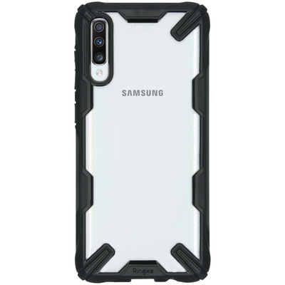 Ringke Fusion X Backcover Samsung Galaxy A70 - Zwart - Zwart / Black Mobile phone case