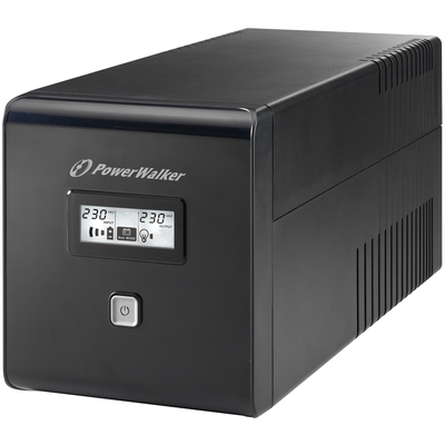 PowerWalker VI 1000 LCD UPS - Zwart