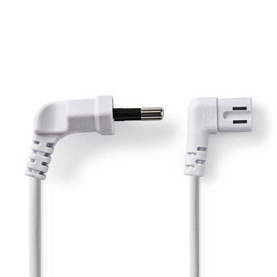 Nedis Power Cable, Euro Plug - IEC-320-C7, 2 m, White Electriciteitssnoer - Wit