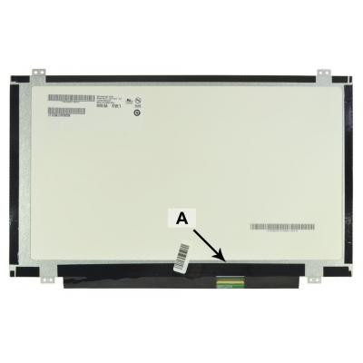 "2-power notebook reserve-onderdeel: 35.56 cm (14.0 "") WXGA HD 1366 x 768 LED Glossy - Zwart"