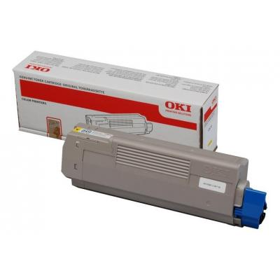 OKI cartridge: Yellow Toner Cartridge - Geel