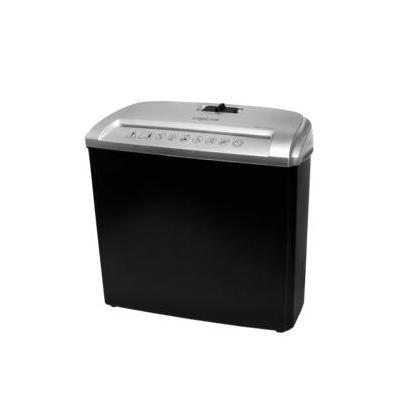 Logilink papierversnipperaar: 5 x A4, 7l, 72 dB, 1.5m, 1.42 kg - Zwart, Grijs