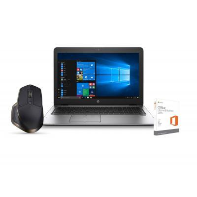 Hp laptop: EliteBook 850 G3 - Intel Core i5 Office Home & Business bundel + GRATIS Logitech muis - Zilver, QWERTY
