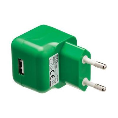 Valueline USB AC charger USB A female - AC home connector green Oplader - Groen