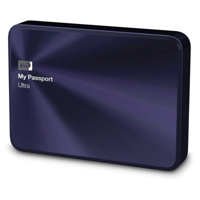 Western digital externe harde schijf: My Passport Ultra Metal Edition, 2TB - Zwart, Blauw