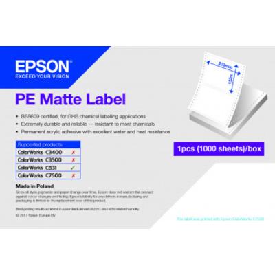 Epson PE Matte Label Etiket - Wit