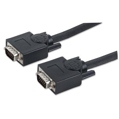 Manhattan VGA kabel : Kabel Monitor SVGA St.>St.  20,0 m [bk] - Zwart
