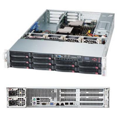 Supermicro server barebone: 6027R-72RFTP+ - Zwart, Zilver