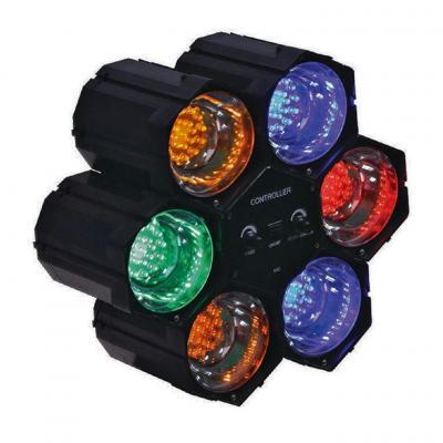 Valueline spot verlichting: Link Spot Mood Lamp 126 LED - Blauw, Groen, Oranje, Rood
