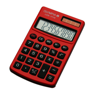 Olympia LCD 1110 Calculator - Rood