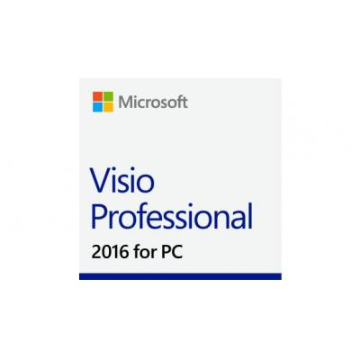 Microsoft software licentie: Visio Professional 2016, No Level, 1U