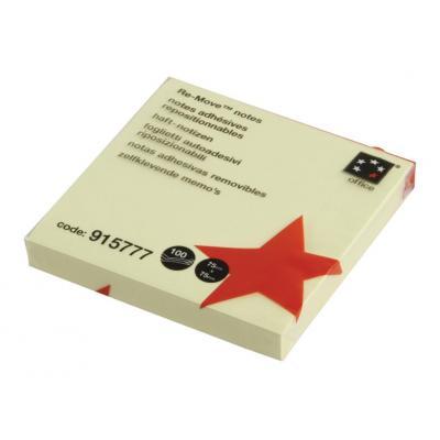 5star product: Zelfklevende memoblaadjes 75x75 mm geel