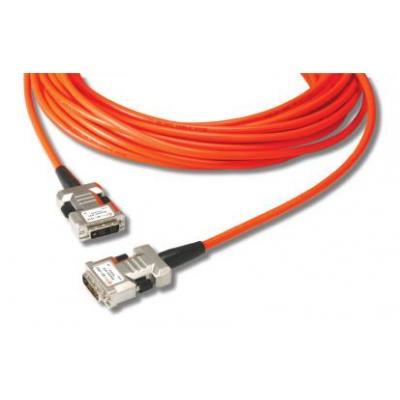 Opticis DVI kabel : Hybride DVI verlengkabel. Lengte: 20. Eenh. 1 stk - Oranje