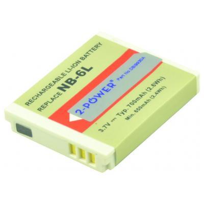 2-power batterij: Digital Camera Battery, Li-Ion, 3.7V, 1000mAh, Grey - Grijs