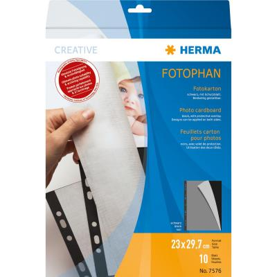 Herma showtas: Photo cardboard 230x297 mm black 10 sheets - Beige