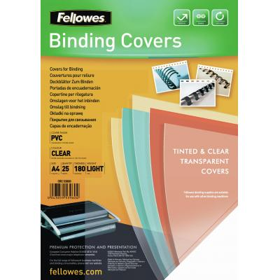 Fellowes binding cover: Transparante PVC dekbladen - 180 micron A4
