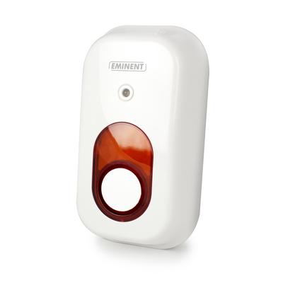 Eminent Draadloze Binnen(geschikt voor het EM8710 Draadloze GSM Alarmsysteem) Sirene - Wit