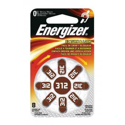Energizer batterij: Hoortoestelbatterijen ZA312 8-blister