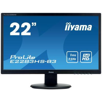 "Iiyama ProLite E2283HS-B3 21,5"" Full HD TN - Desktop Monitor - Zwart"