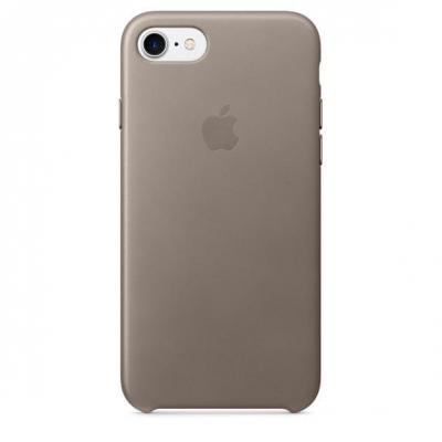 Apple mobile phone case: Leren hoesje voor iPhone 7 - Taupe