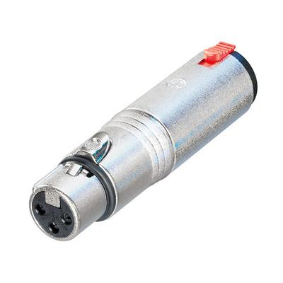 Neutrik 3p XLR NA3FJ adapter Kabel adapter - Zilver