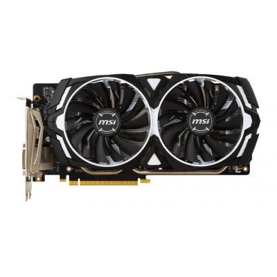 Msi videokaart: GeForce GTX 1060 ARMOR 6G OCV1 - Zwart, Wit