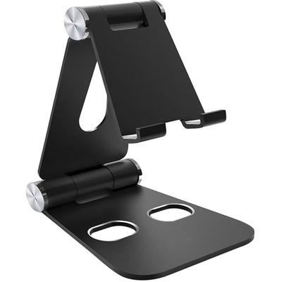 Mobiparts Tablet Stand Holder Metal size L - Black Houder - Zwart