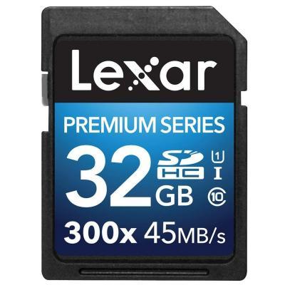 Lexar flashgeheugen: 32GB Platinum II SDHC UHS-I - Multi kleuren