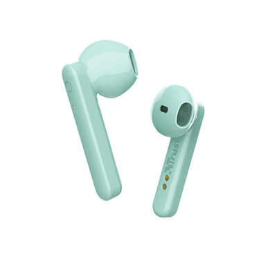 Trust Primo Touch - Stijlvolle draadloze oortjes - Bluetooth - Mint Headset - Muntkleur