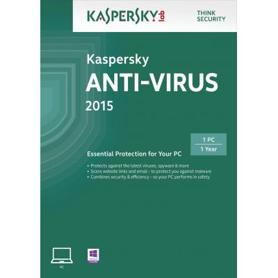 Kaspersky lab software: Anti-Virus 2015