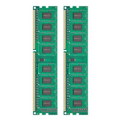 Pny RAM-geheugen: 8GB (2x4GB) PC3-12800 1600MHz DDR3 - Groen