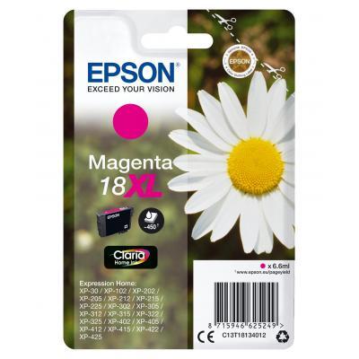 Epson inktcartridge: 18XL inktcartridge magenta high capacity 6.6ml 450 paginas 1-pack blister zonder alarm